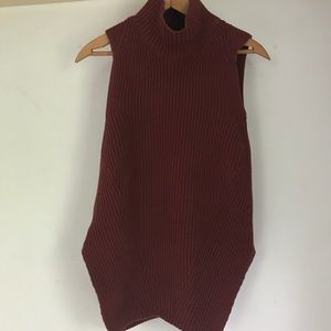 Ann Taylor Sleeveless Mock Neck Sweater